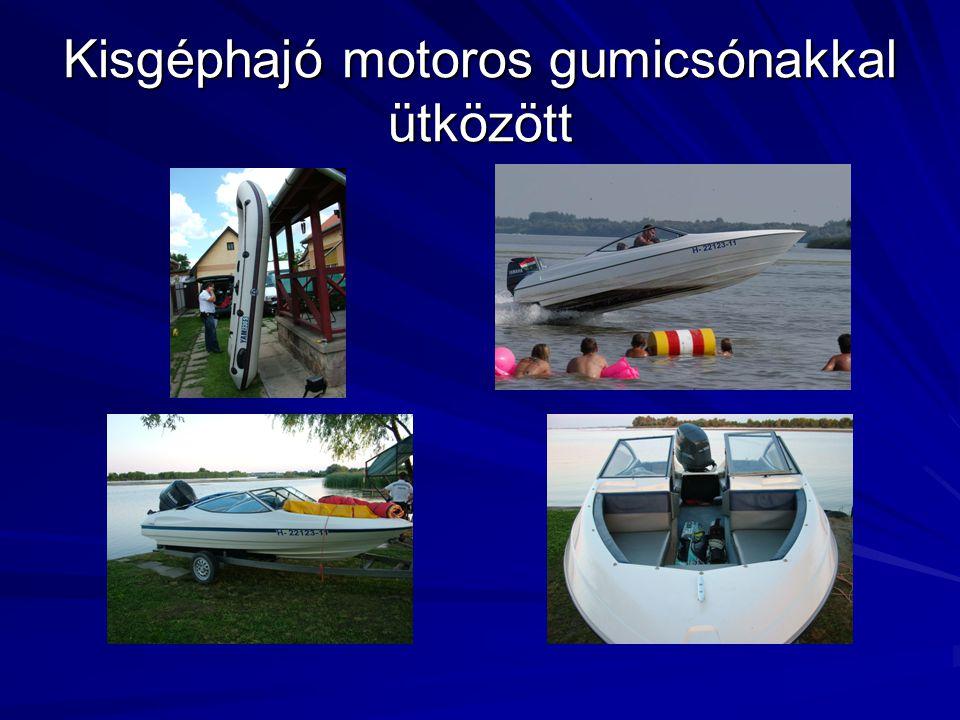 Kisgéphajó motoros gumicsónakkal ütközött