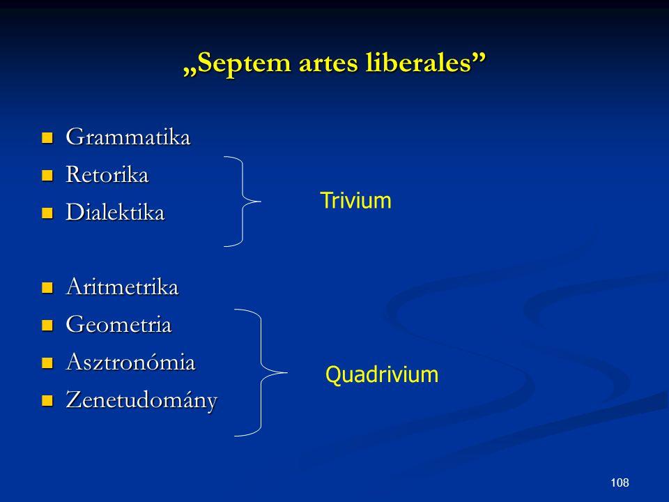 """""""Septem artes liberales"""