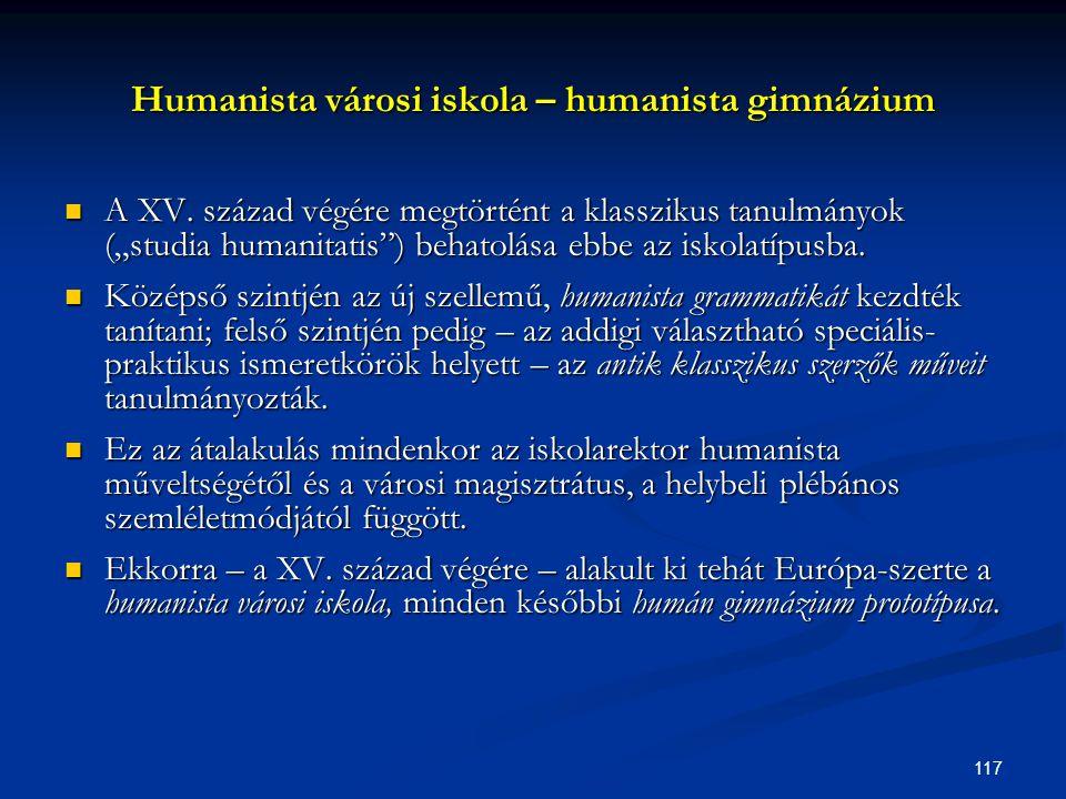 Humanista városi iskola – humanista gimnázium