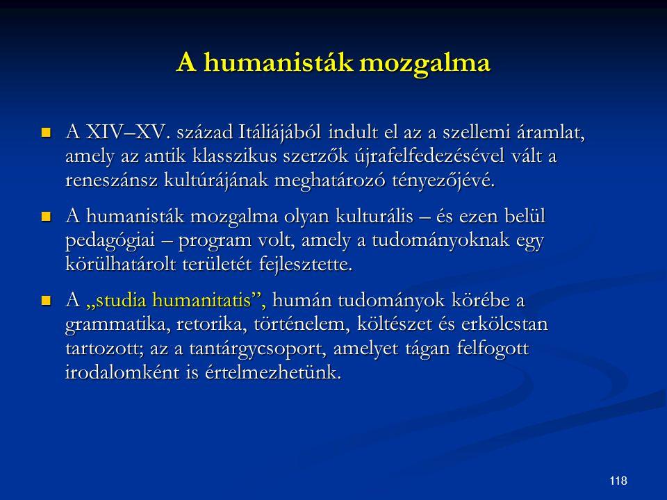 A humanisták mozgalma