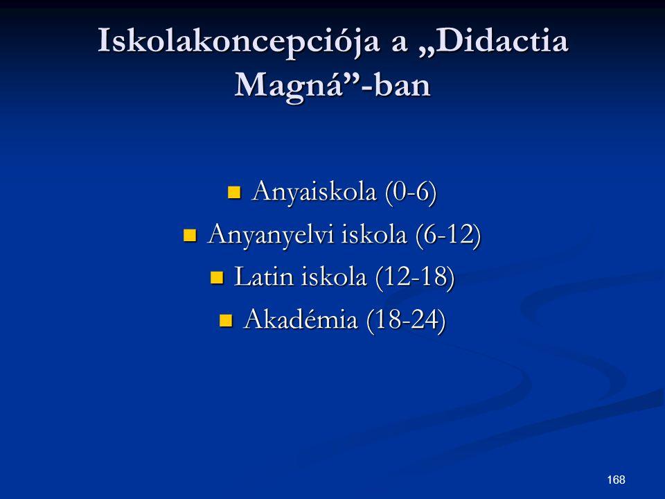 """Iskolakoncepciója a """"Didactia Magná -ban"""