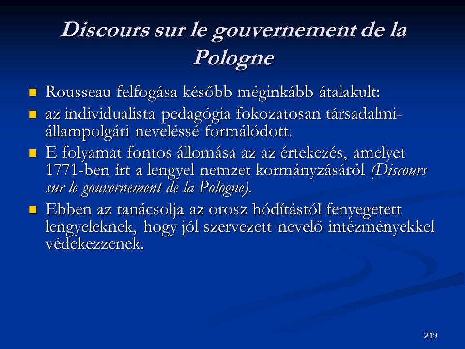 Discours sur le gouvernement de la Pologne