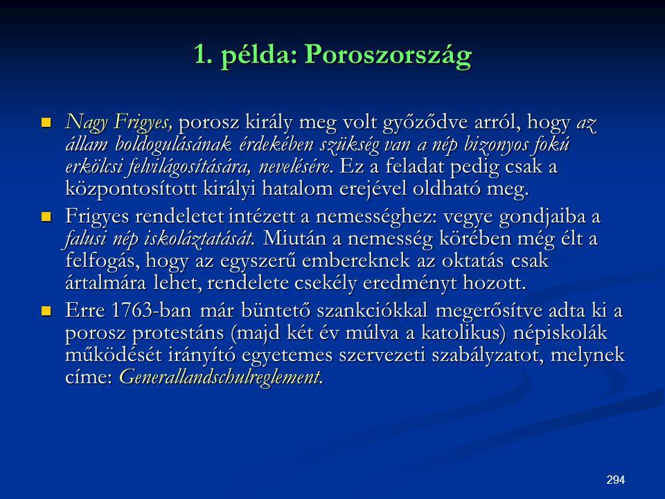 1. példa: Poroszország