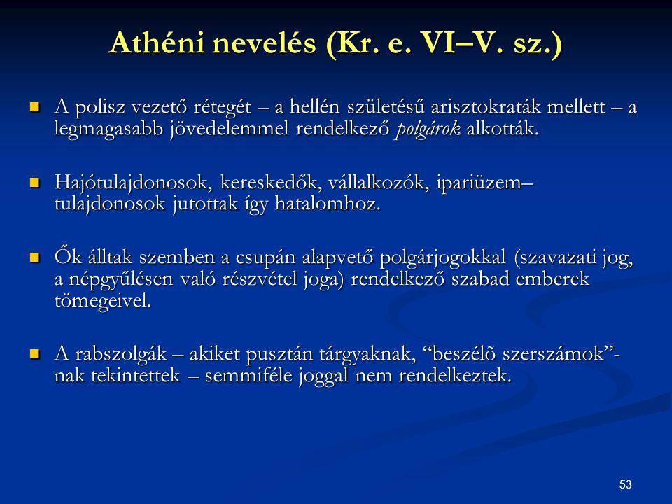 Athéni nevelés (Kr. e. VI–V. sz.)