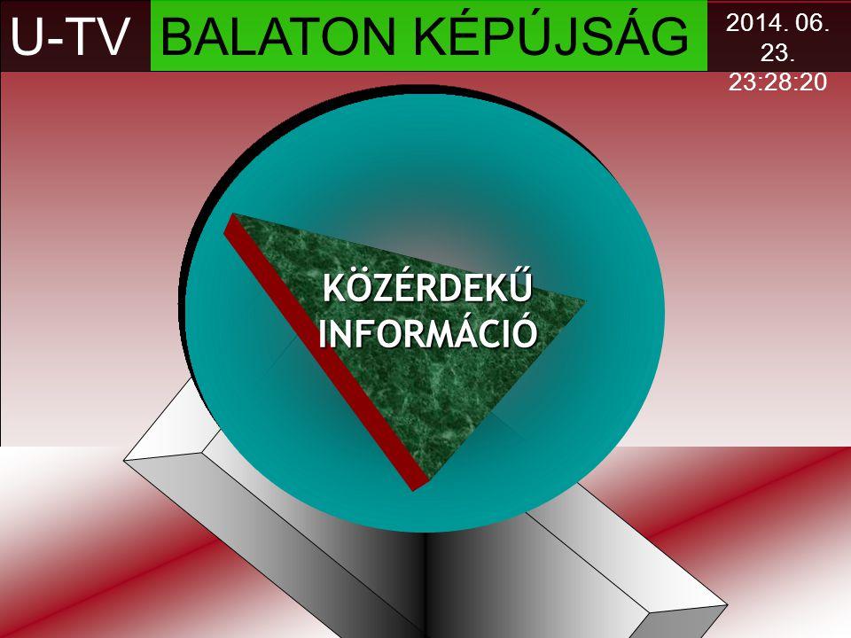 U-TV BALATON KÉPÚJSÁG KÖZÉRDEKŰ INFORMÁCIÓ