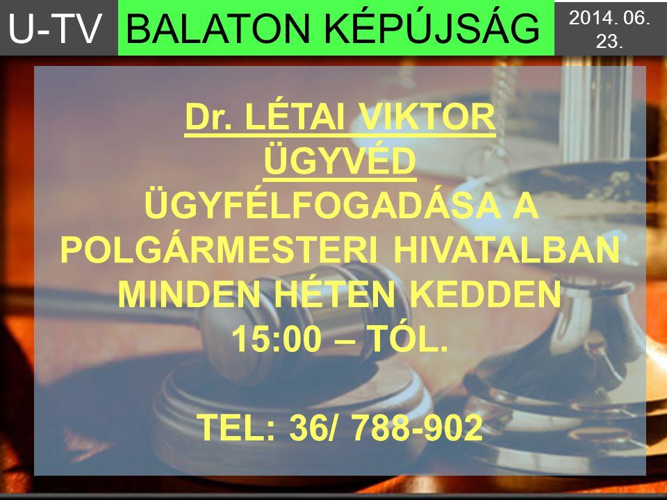 U-TV BALATON KÉPÚJSÁG. 2017.04.03. 3:04:142017.04.03. 3:04:14.