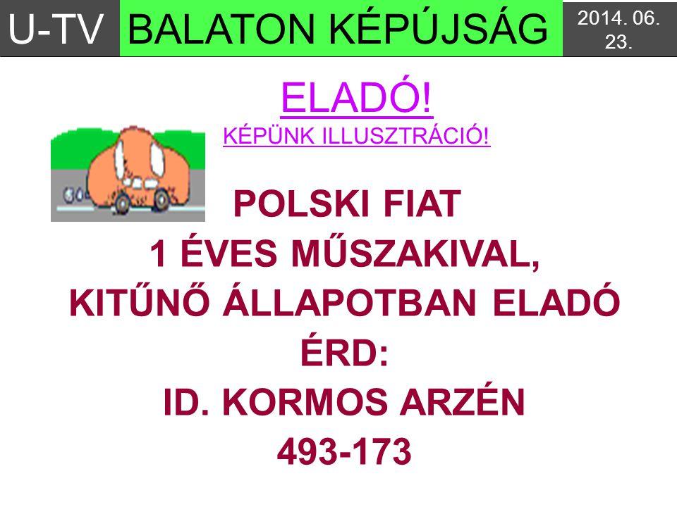 KITŰNŐ ÁLLAPOTBAN ELADÓ