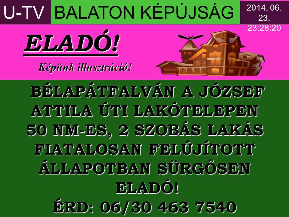 ELADÓ! U-TV BALATON KÉPÚJSÁG