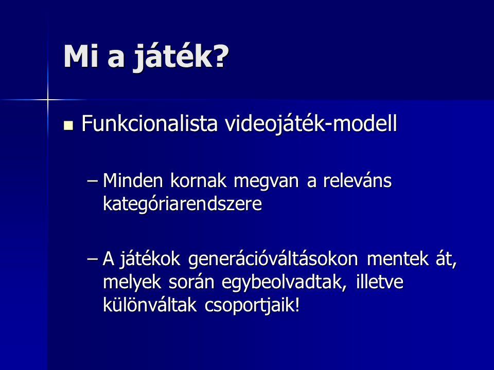 Mi a játék Funkcionalista videojáték-modell