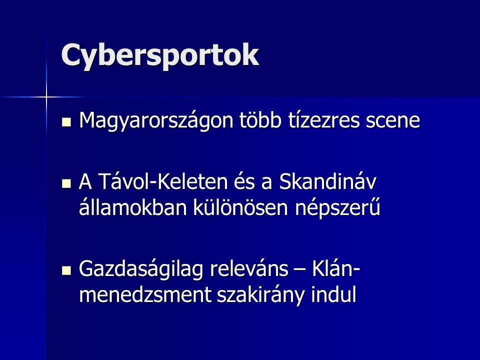 Cybersportok Magyarországon több tízezres scene