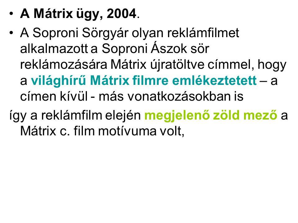 A Mátrix ügy, 2004.