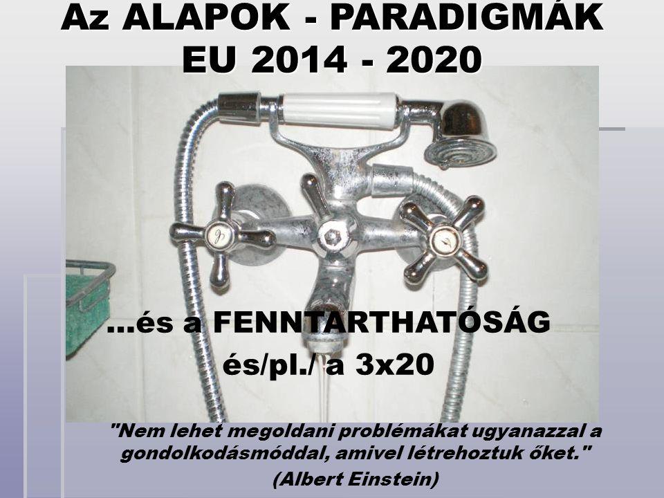 Az ALAPOK - PARADIGMÁK EU 2014 - 2020