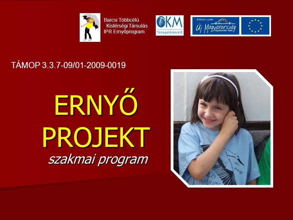 ERNYŐ PROJEKT szakmai program TÁMOP 3.3.7-09/01-2009-0019
