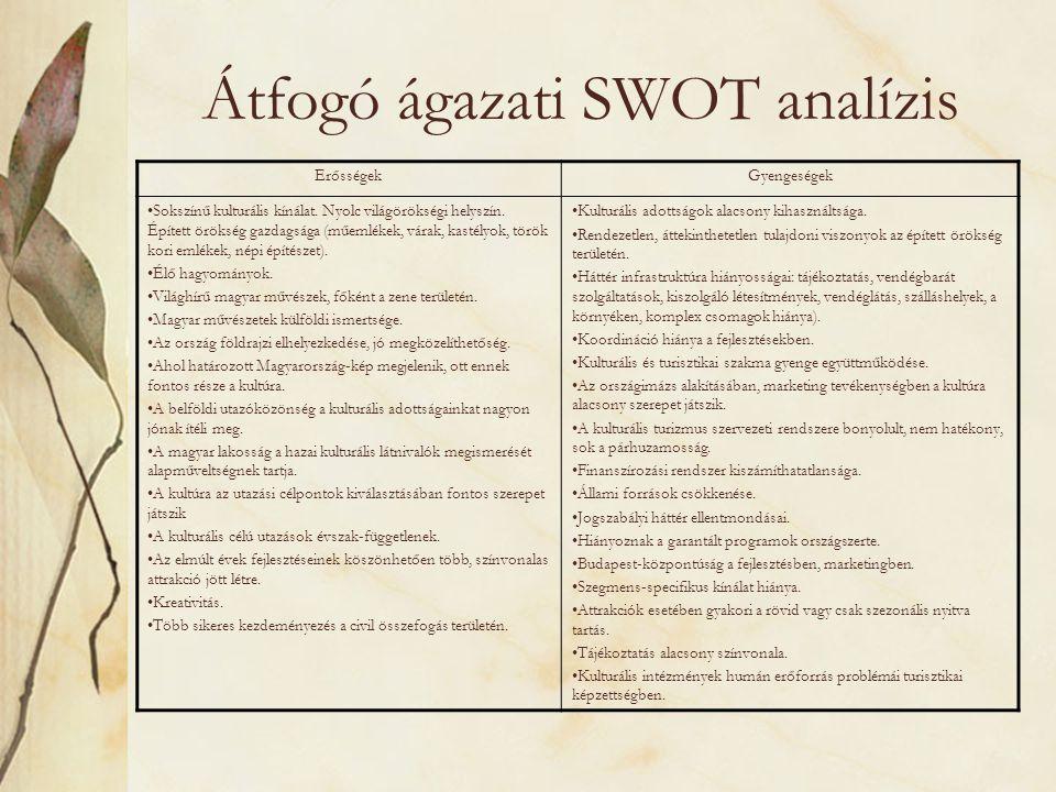 Átfogó ágazati SWOT analízis