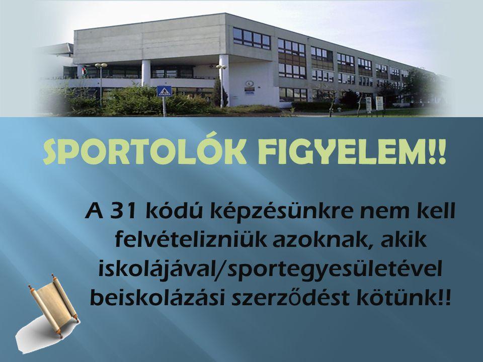 SPORTOLÓK FIGYELEM!.