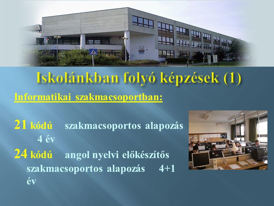 Iskolánkban folyó képzések (1)