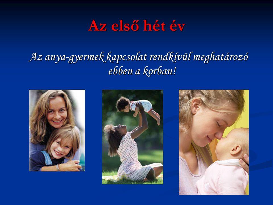 Az anya-gyermek kapcsolat rendkívül meghatározó ebben a korban!