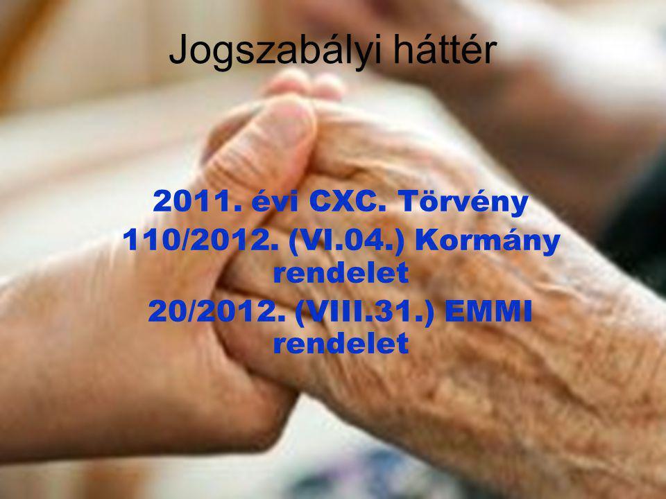 110/2012. (VI.04.) Kormány rendelet