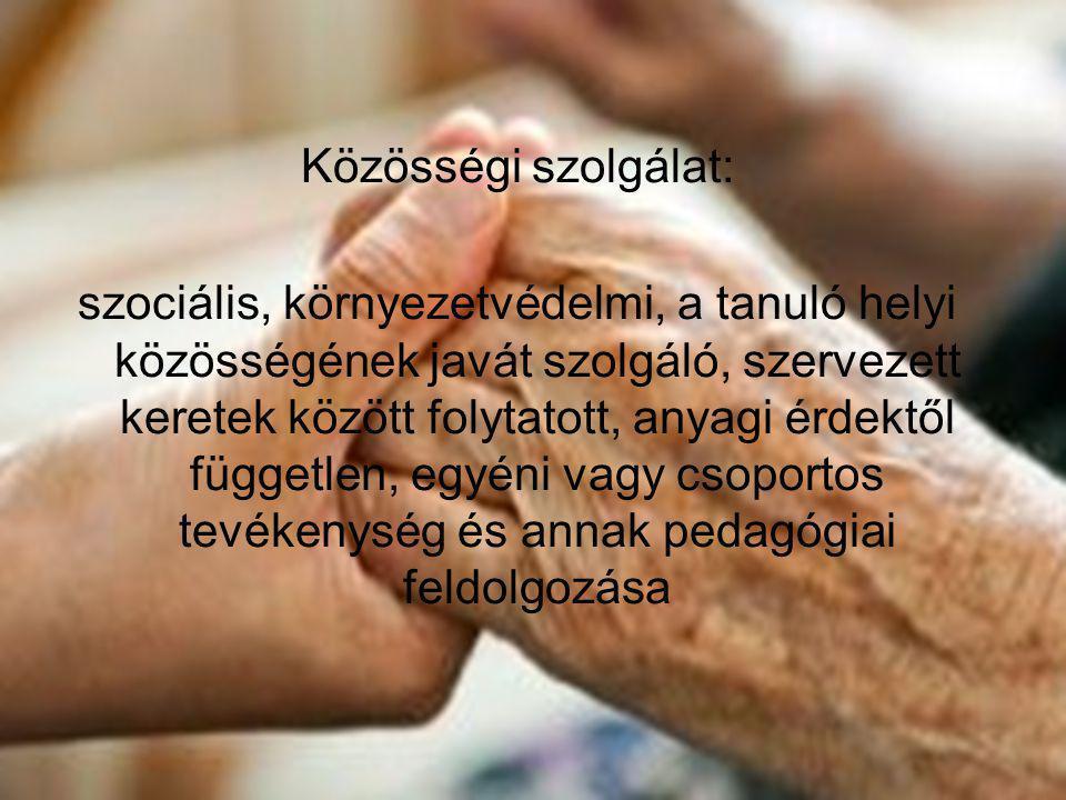 Közösségi szolgálat: