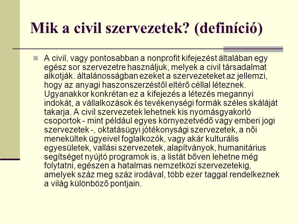 Mik a civil szervezetek (definíció)