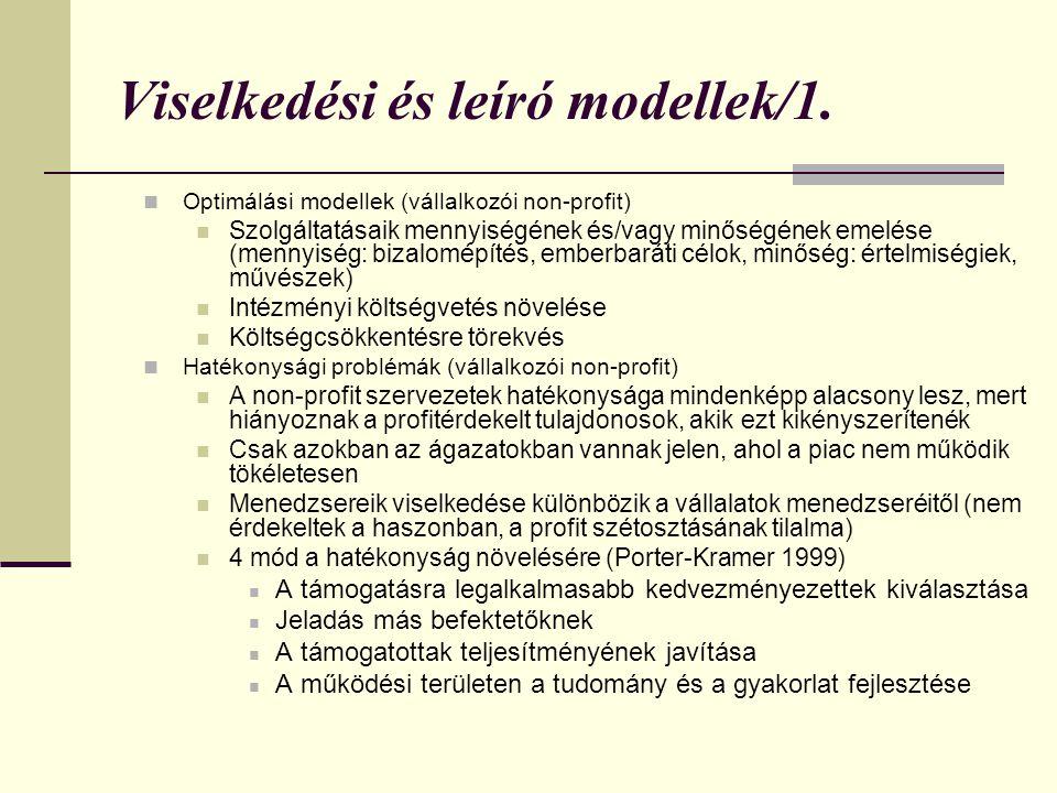 Viselkedési és leíró modellek/1.