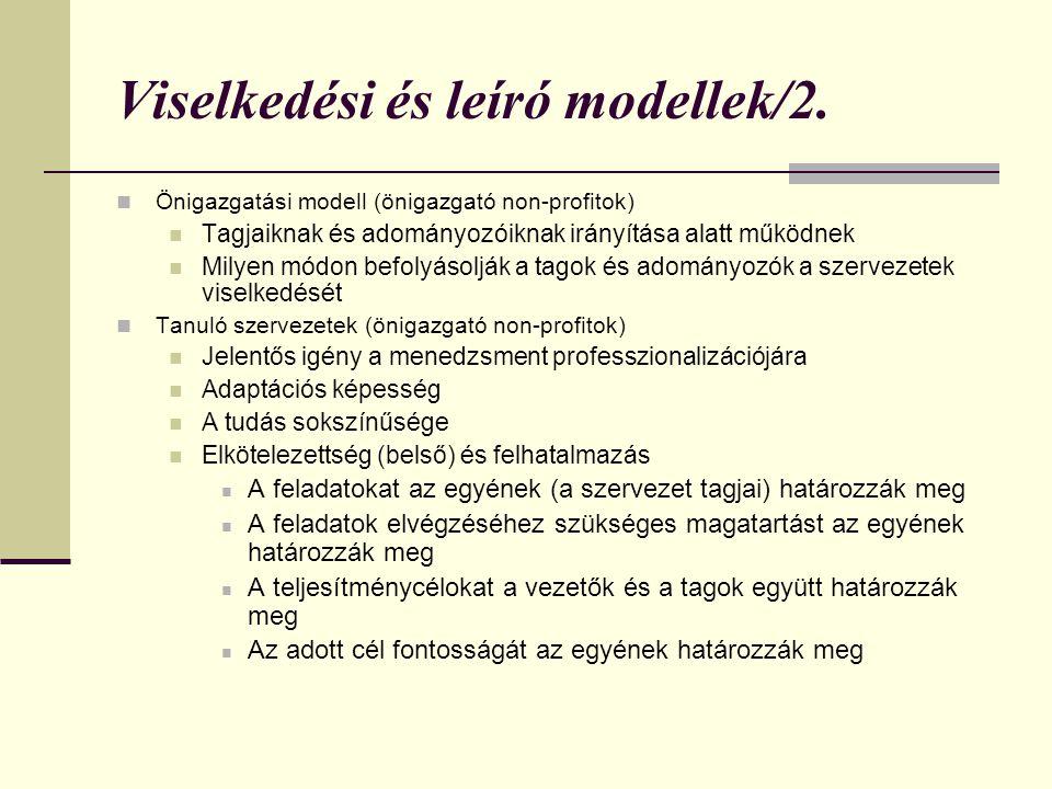 Viselkedési és leíró modellek/2.