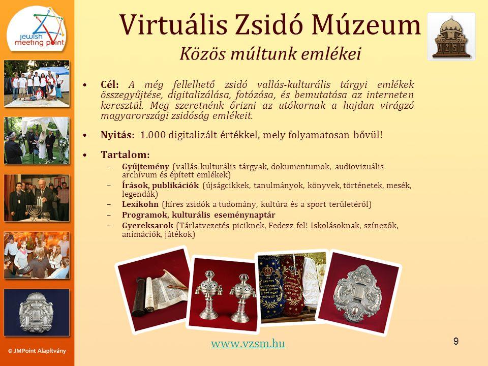 Virtuális Zsidó Múzeum Közös múltunk emlékei