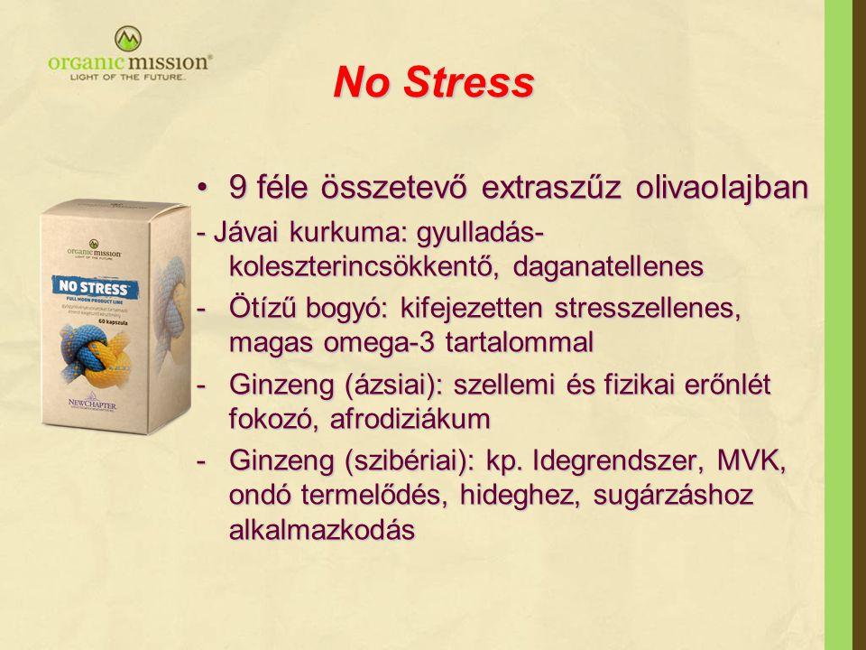 No Stress 9 féle összetevő extraszűz olivaolajban
