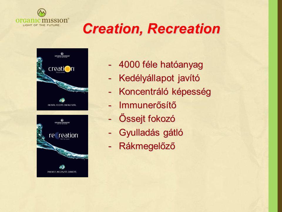 Creation, Recreation 4000 féle hatóanyag Kedélyállapot javító