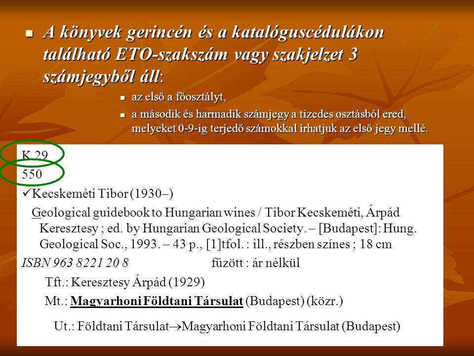 Ut.: Földtani TársulatMagyarhoni Földtani Társulat (Budapest)