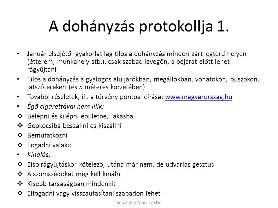 A dohányzás protokollja 1.