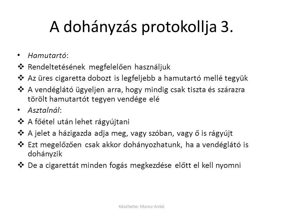A dohányzás protokollja 3.