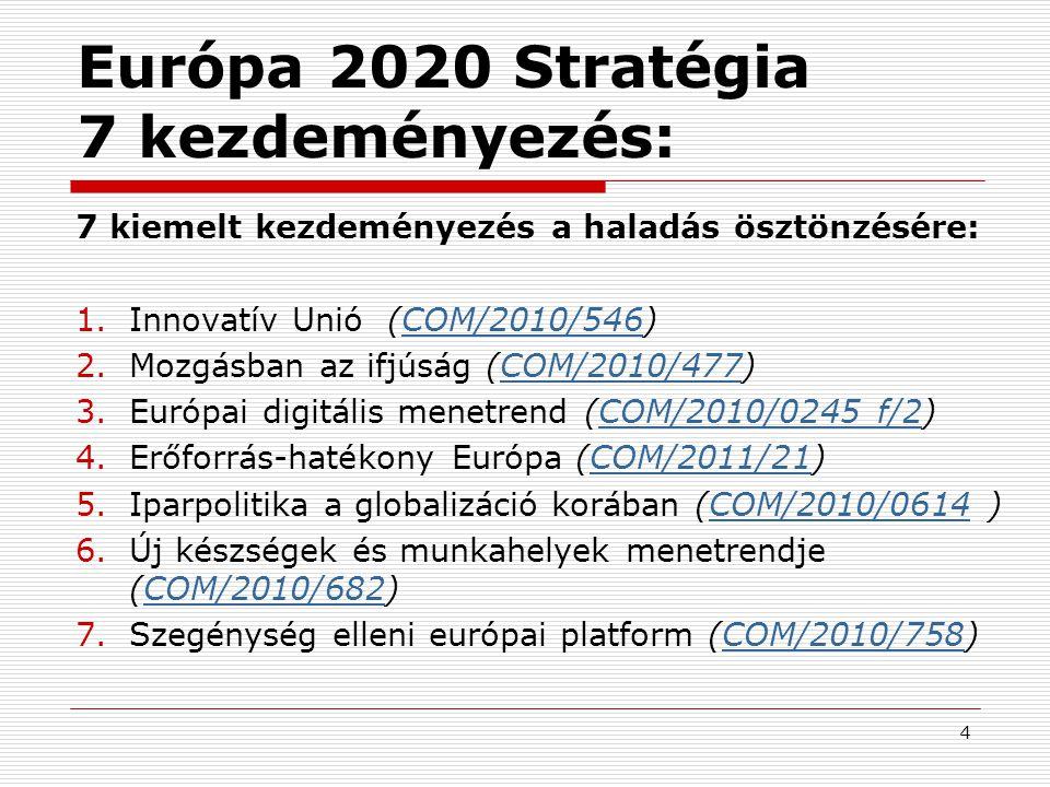 Európa 2020 Stratégia 7 kezdeményezés: