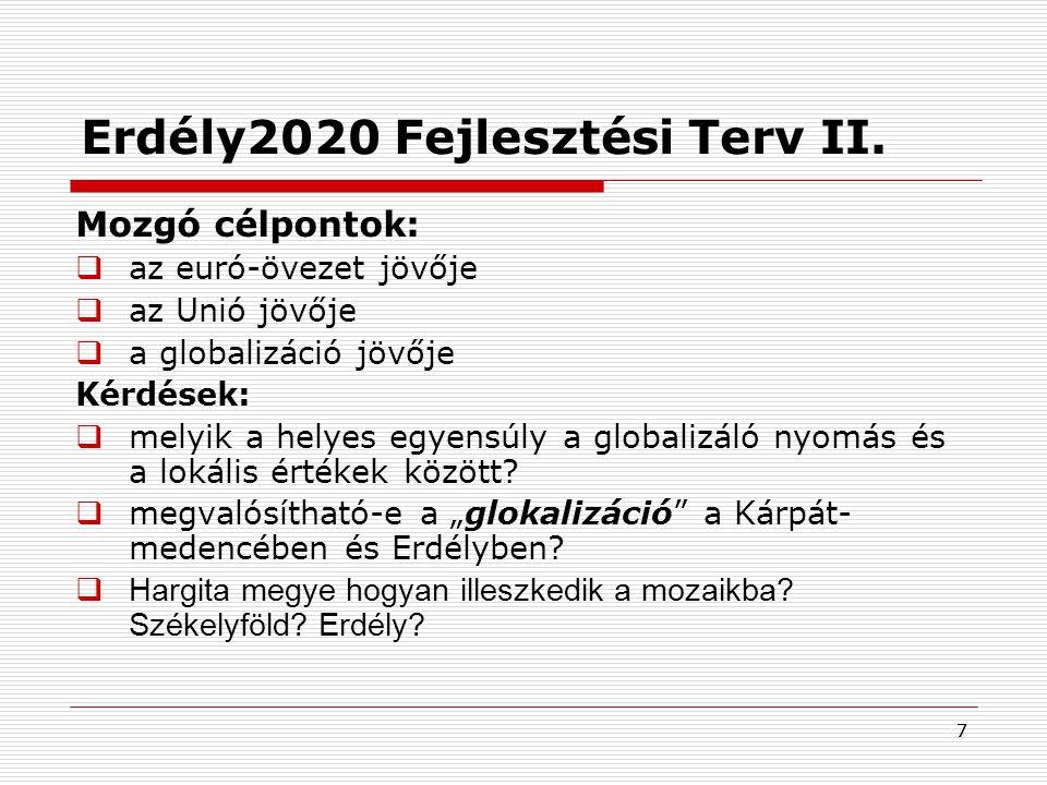 Erdély2020 Fejlesztési Terv II.