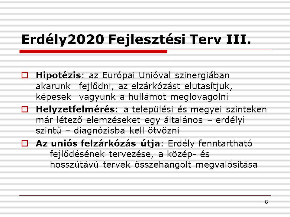 Erdély2020 Fejlesztési Terv III.