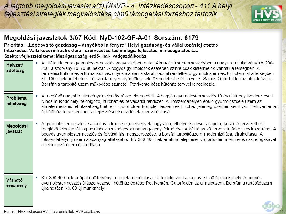 Megoldási javaslatok 3/67 Kód: NyD-102-GF-A-01 Sorszám: 6179