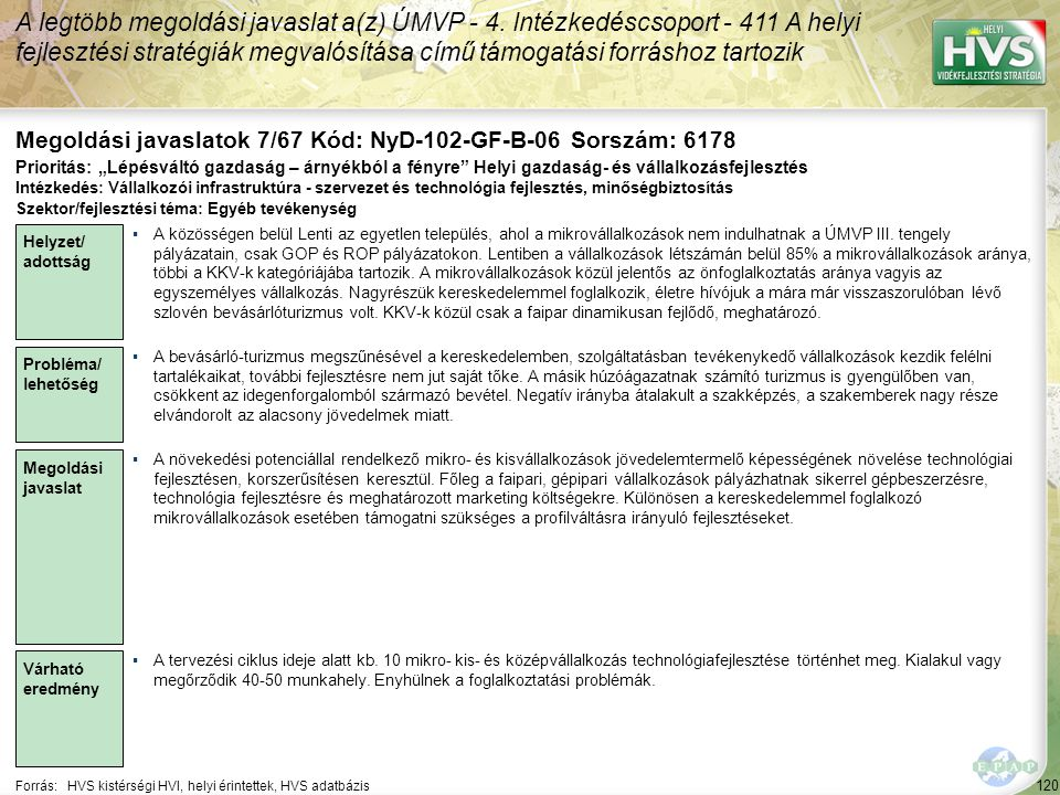 Megoldási javaslatok 7/67 Kód: NyD-102-GF-B-06 Sorszám: 6178