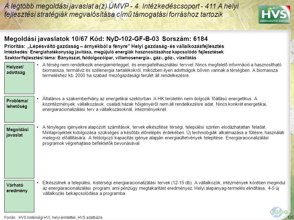 Megoldási javaslatok 10/67 Kód: NyD-102-GF-B-03 Sorszám: 6184