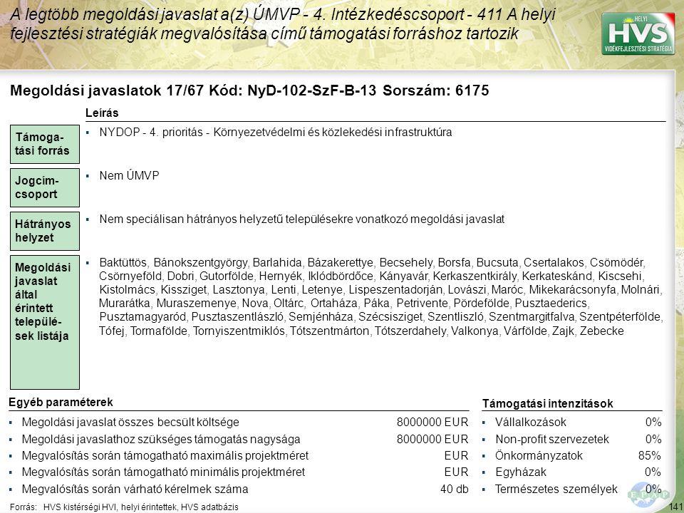 Megoldási javaslatok 18/67 Kód: NyD-102-SzF-A-23 Sorszám: 6176