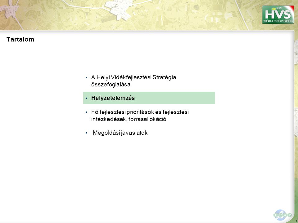 A térség általános jellemzői, a hely szelleme 1/2