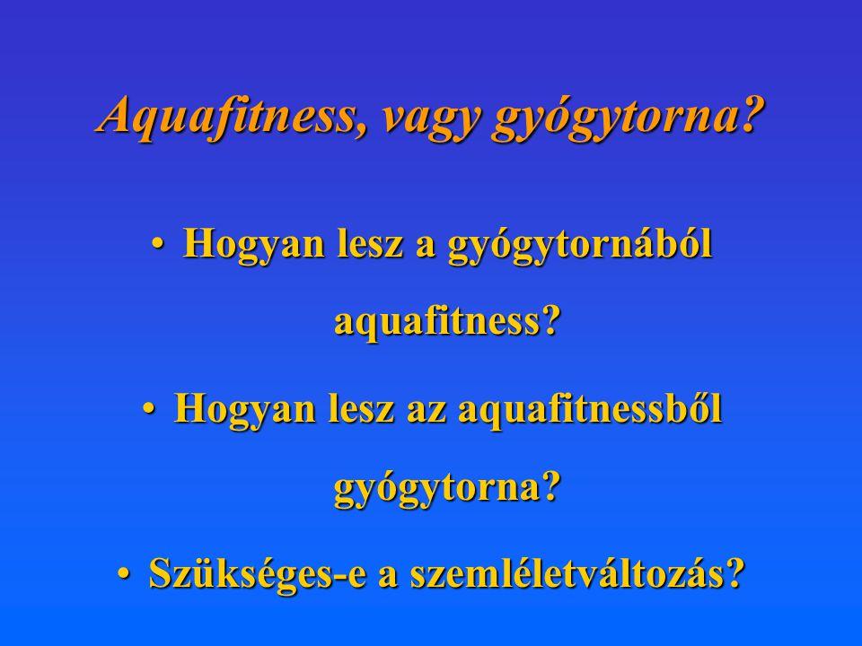 Aquafitness, vagy gyógytorna