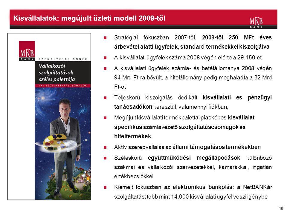 Kisvállalatok: megújult üzleti modell 2009-től