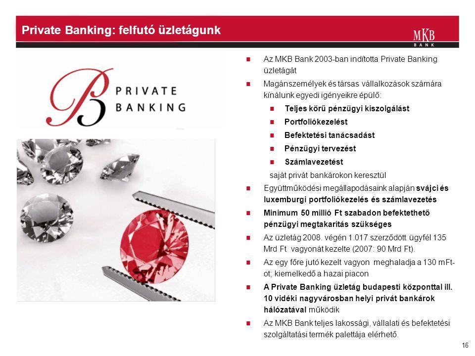 Private Banking: felfutó üzletágunk