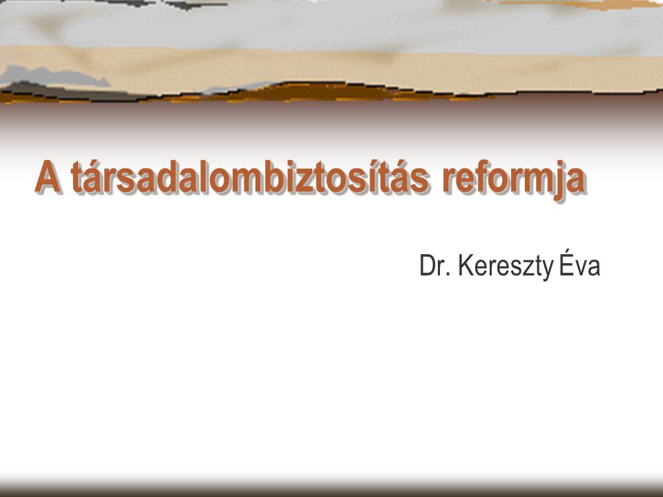 A társadalombiztosítás reformja