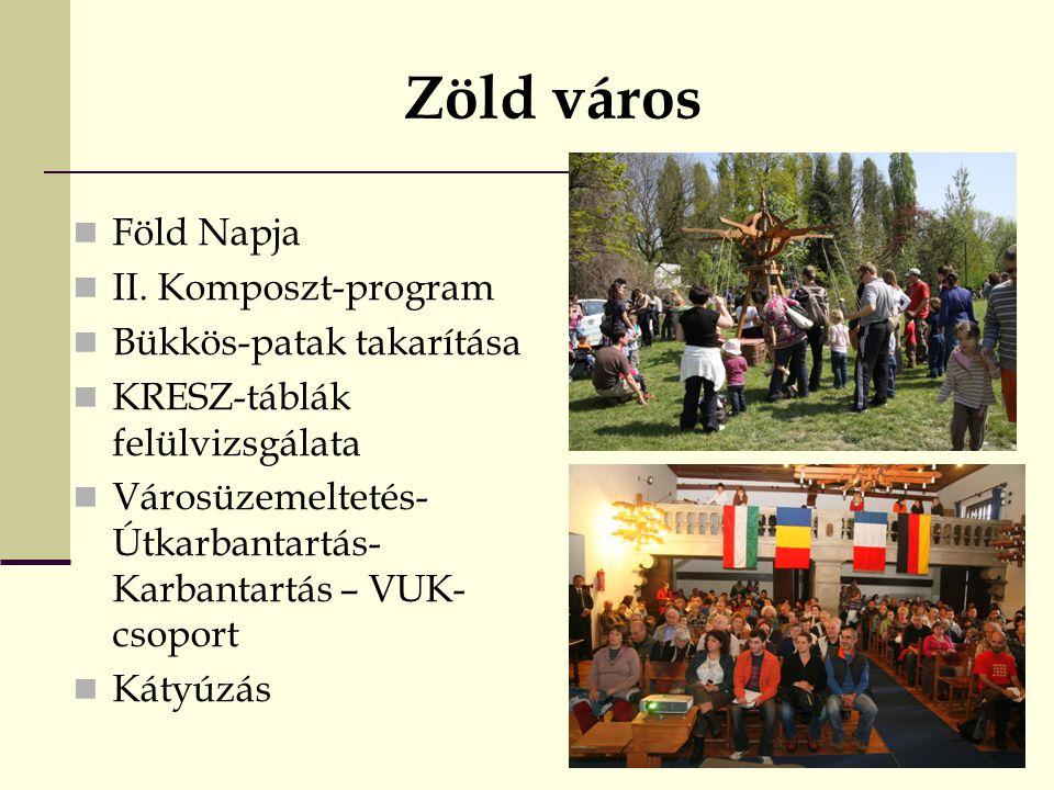Zöld város Föld Napja II. Komposzt-program Bükkös-patak takarítása