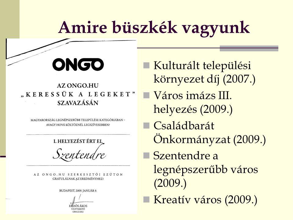 Amire büszkék vagyunk Kulturált települési környezet díj (2007.)