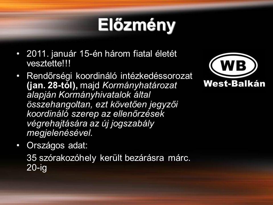 Előzmény 2011. január 15-én három fiatal életét vesztette!!!