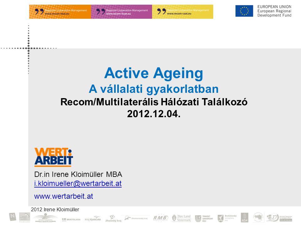 A vállalati gyakorlatban Recom/Multilaterális Hálózati Találkozó