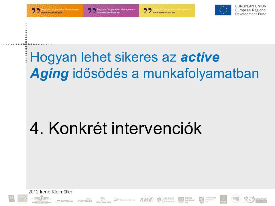 Irene Kloimüller 2009 Hogyan lehet sikeres az active Aging idősödés a munkafolyamatban.