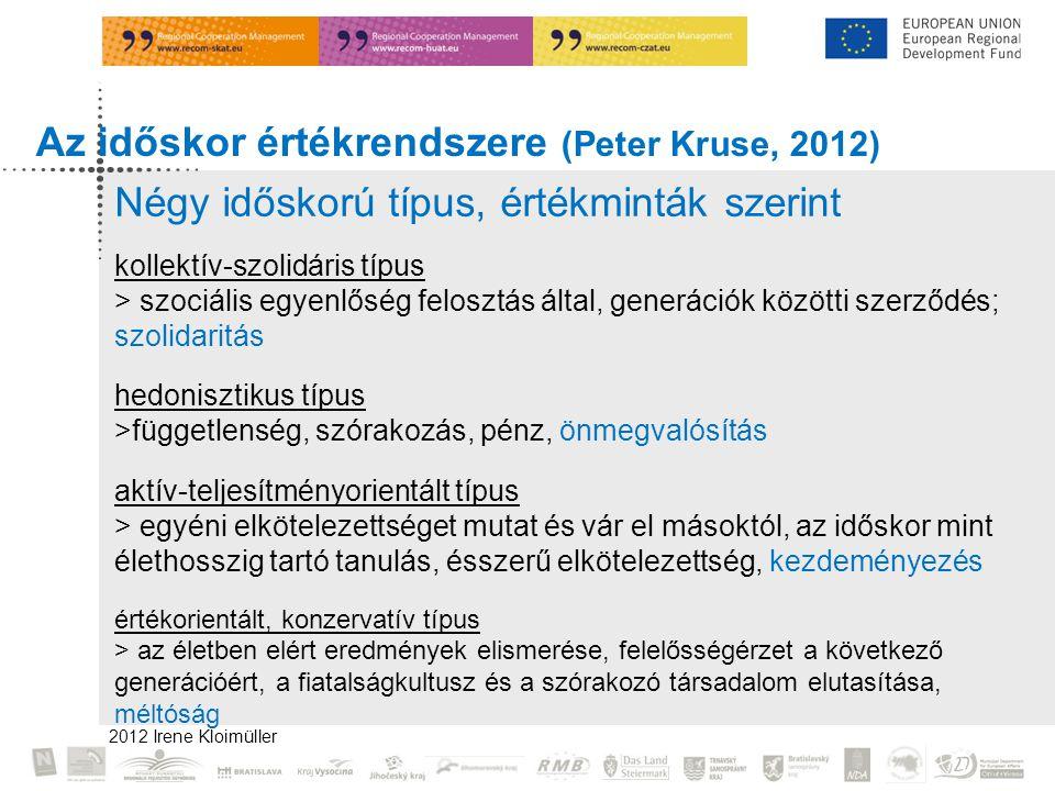 Az időskor értékrendszere (Peter Kruse, 2012)